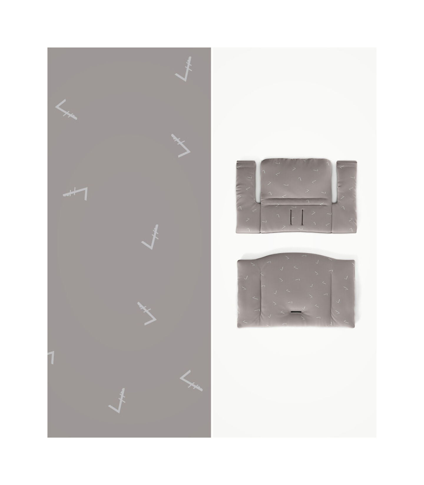 Tripp Trapp® HC Cpl White w Icon Grey Cushion & Tray, White, Icon Grey Cushion + Tray, mainview view 3