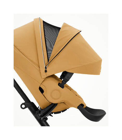 Stokke® Xplory® X Golden Yellow Stroller with Seat. Zoomed. view 3