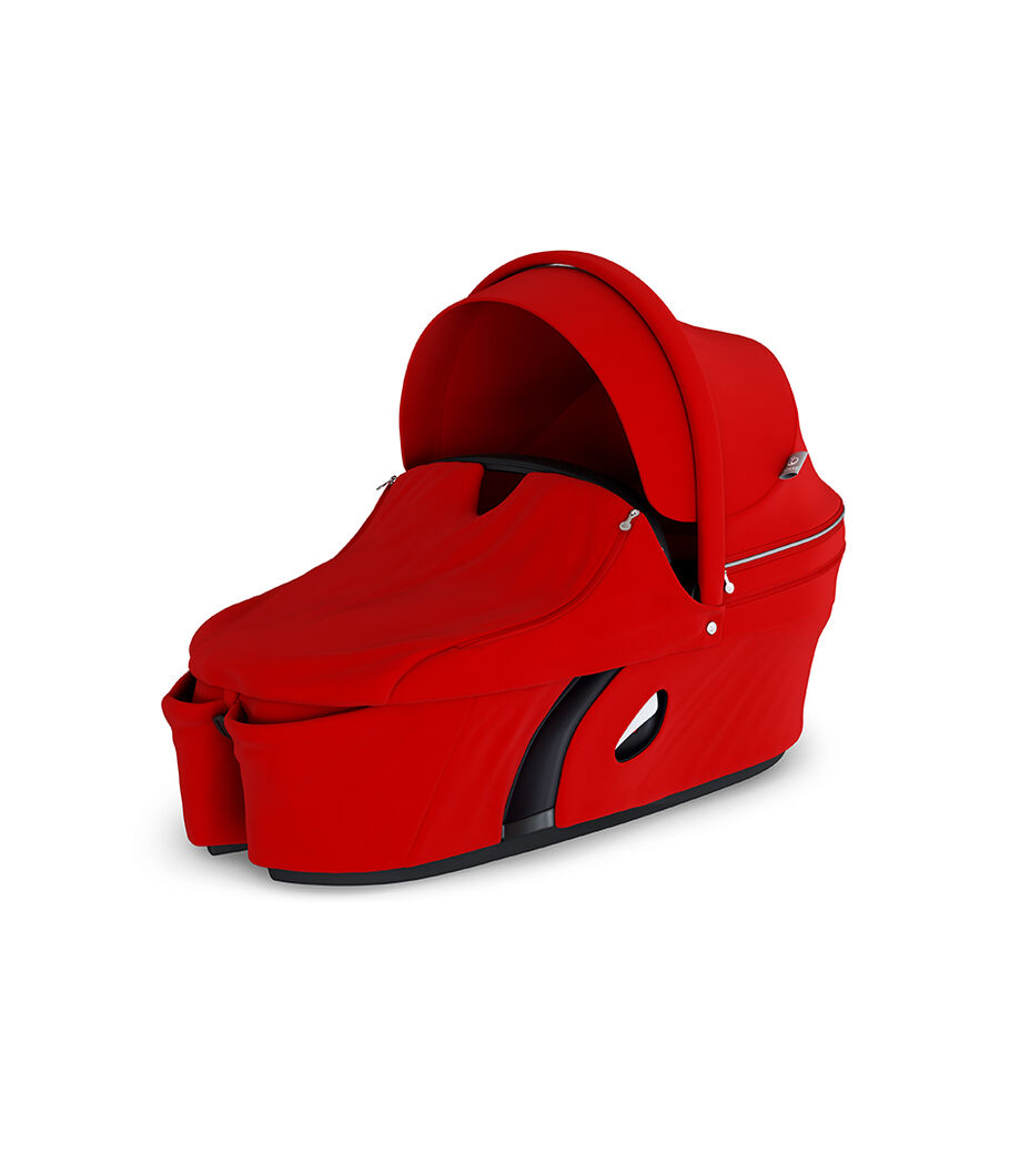 Stokke® Xplory® Carry Cot Red. With Storm Cover. view 12