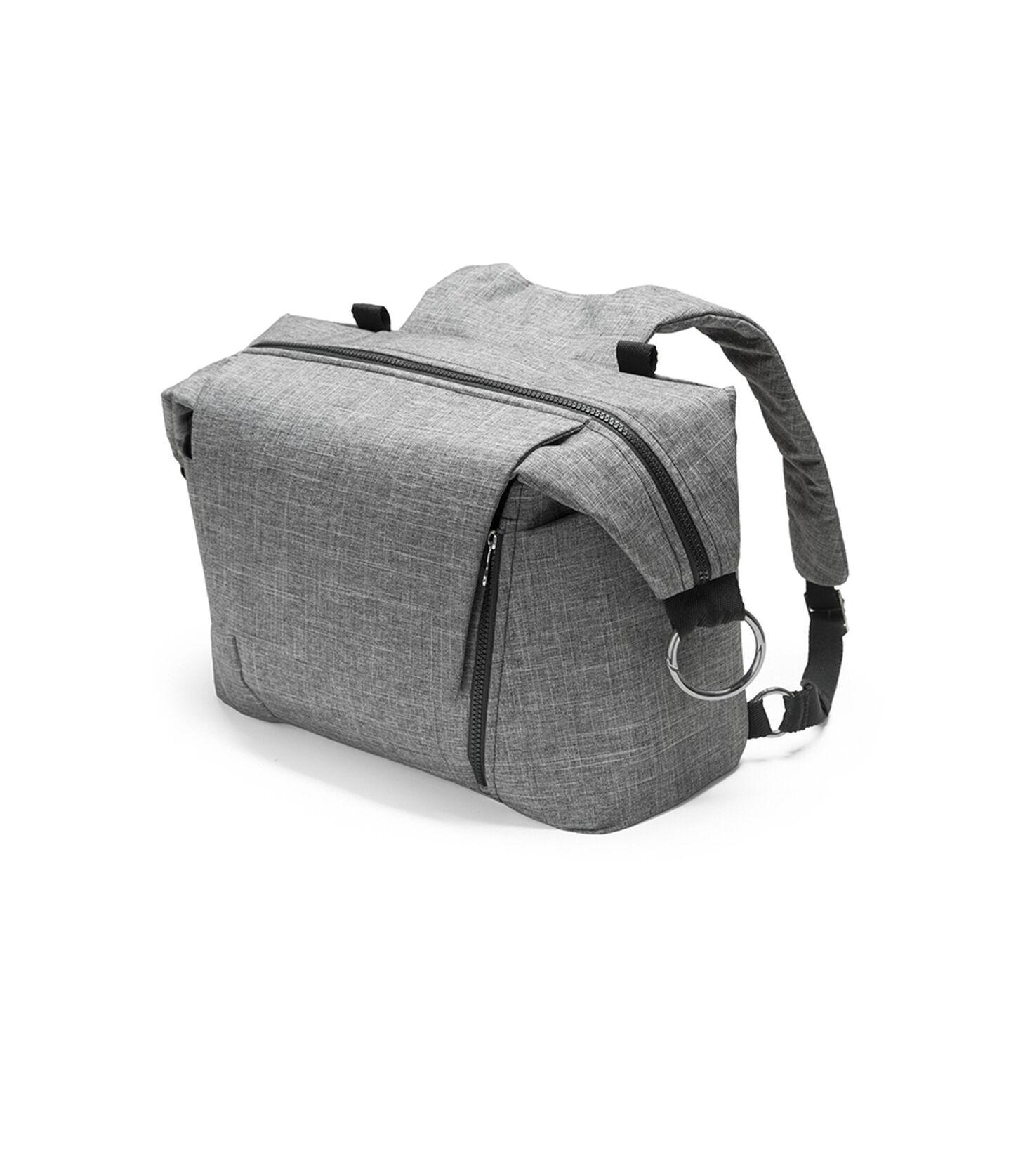 Stokke®, сумка для мамы, цвет Черный меланж (Black Melange), Чёрный меланж, mainview view 2
