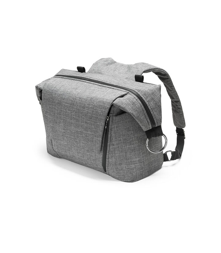 Stokke®, сумка для мамы, цвет Черный меланж (Black Melange), Чёрный меланж, mainview view 1