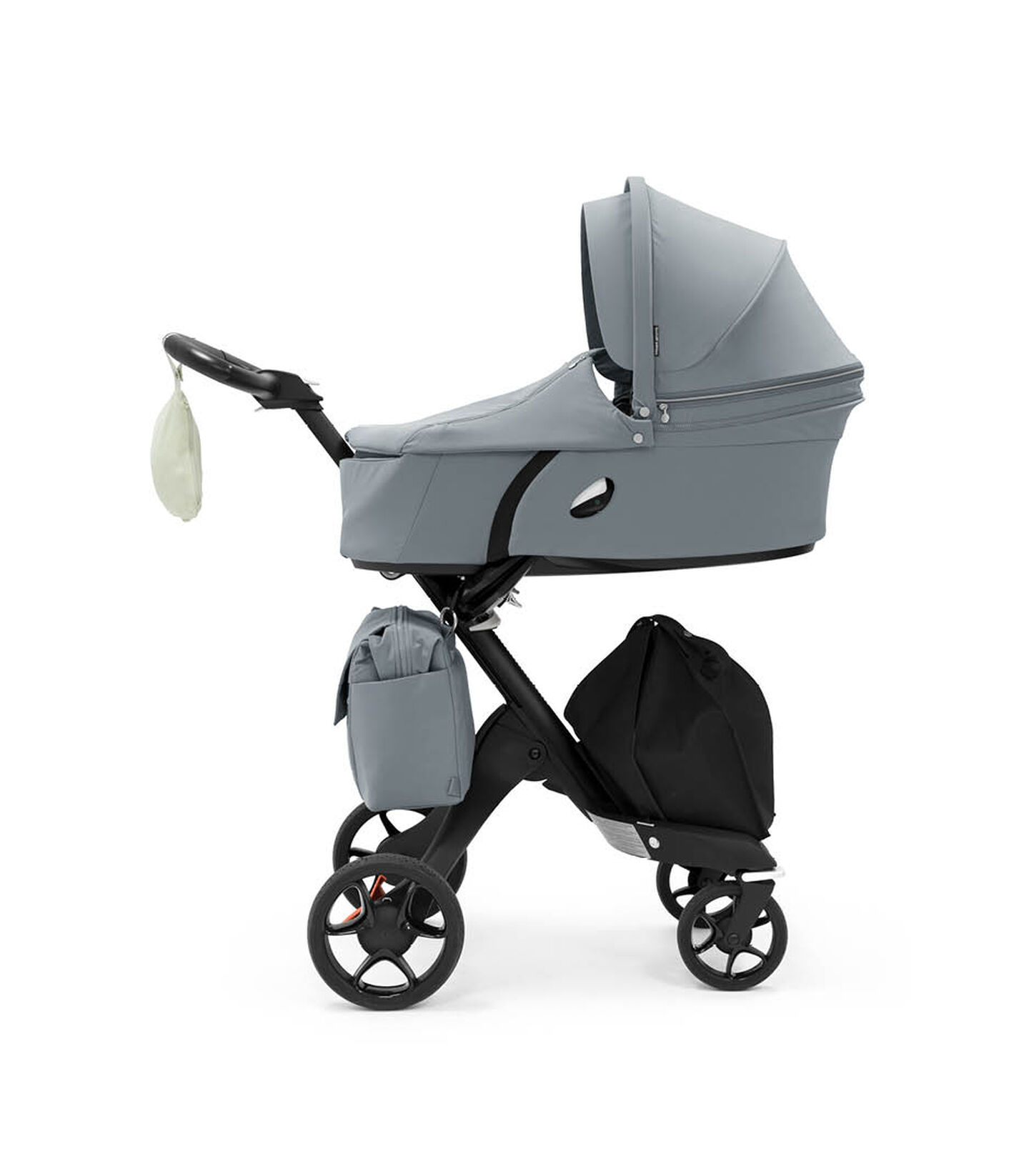 Stokke® Xplory® 6 Balance Limited Edition with Stokke® Xplory® Carry Cot. Tranquil Blue. view 3