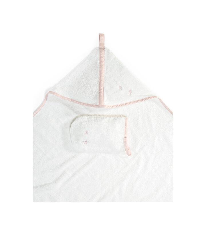 Stokke® Badcape met washandje, Pink Bee, mainview view 1