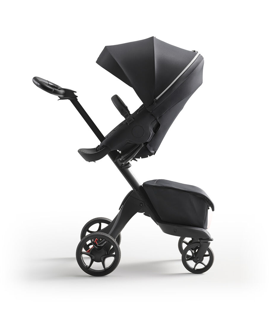 Stokke® Xplory® X Rich Black Stroller with Seat Parent Facing view 2
