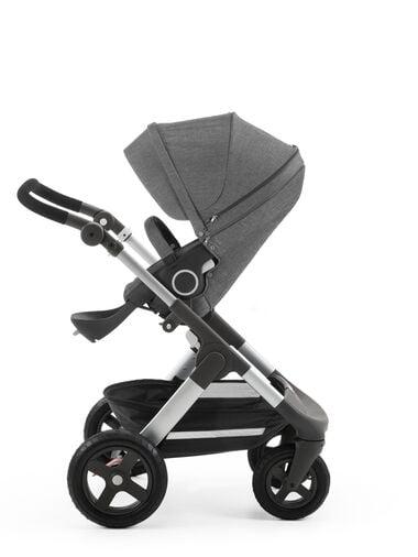 Stokke® Trailz™ with Stokke® Stroller Seat Black Melange.