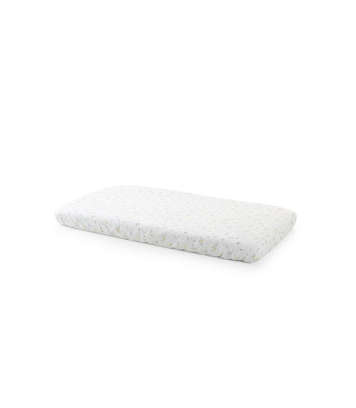 Stokke® Home™ Crib Fitted Sheet 2pc, Soft Rabbit, mainview view 1