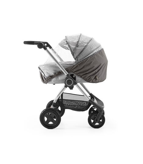 Stokke® Scoot™ With Carry Cot Grey Melange. Rain Cover.