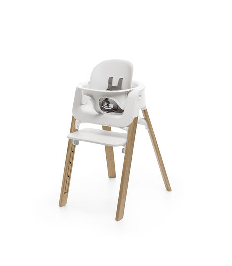 Stokke® Steps™ Chair White Seat Oak Natural Legs (stkke.com), Oak Natural, mainview view 3