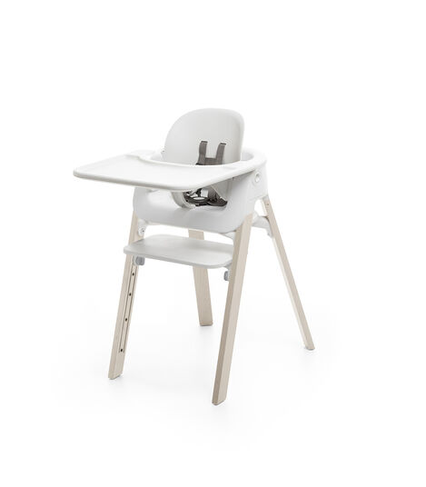Stokke® Steps™ Chair Whitewash Legs with White, Whitewash, mainview view 4