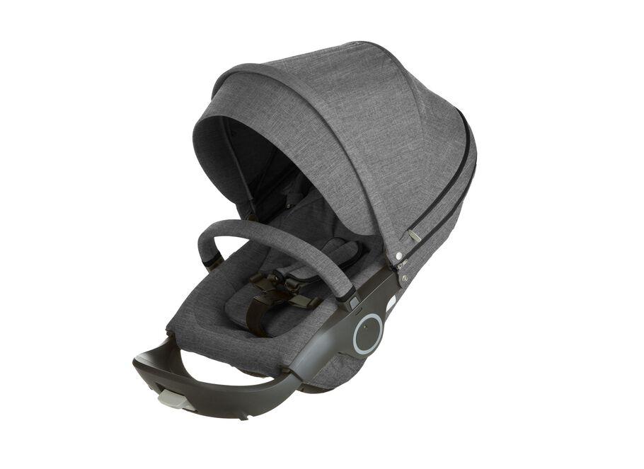 Stokke® Stroller Seat. Black Melange.