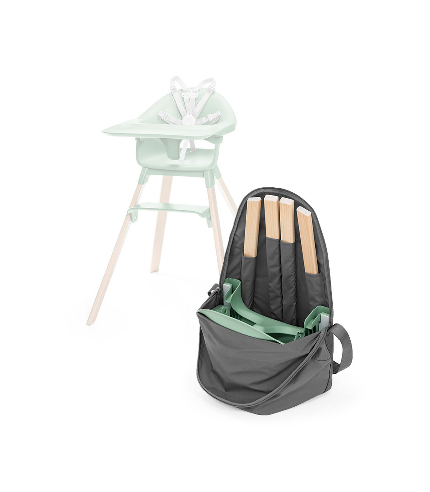 Stokke® Clikk™ Travel Bag Dark Grey, Gris foncé, mainview view 3