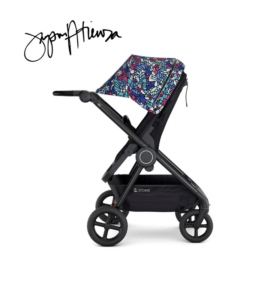 Stokke® Beat™ with Seat, Black and Canopy Limited Edition, Stokke x Jason Atienza.