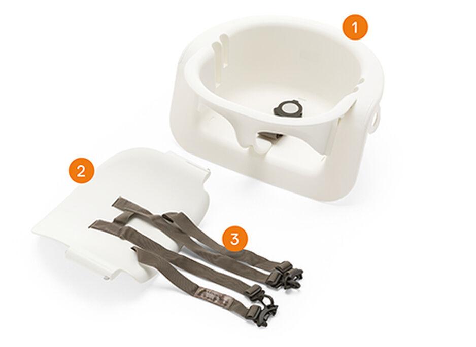 Stokke® Steps™ Baby Set in de kleur White, , WhatsIncl view 1