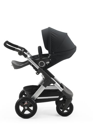 Stokke® Trailz™ with Stokke® Stroller Seat Black.