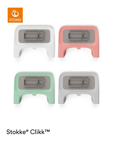ezpz™ by Stokke™ placemat for Clikk™ Tray Green, Soft Grey, mainview view 6