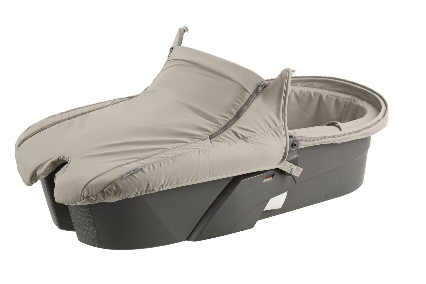 Carry Cot without Hood, Beige.