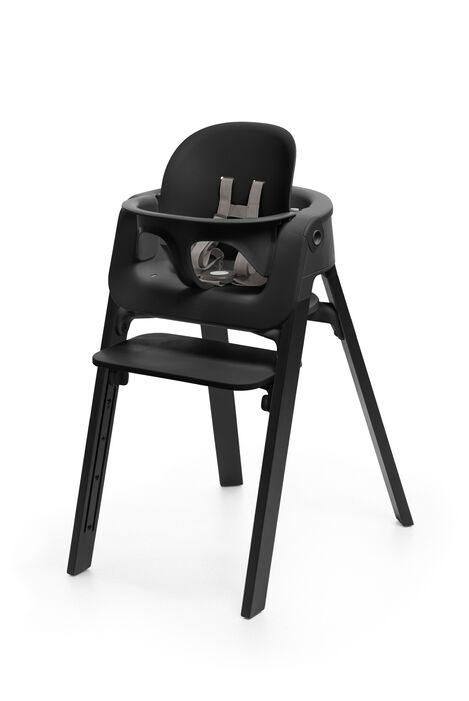 Stokke® Steps™ Oak Black with Baby Set, Black.