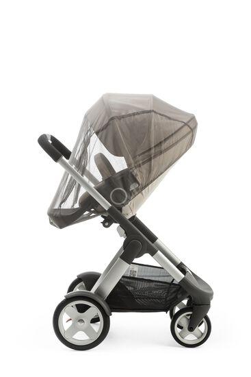 Stokke® Crusi™ with Stokke® Stroller Seat, Beige Melange. Mosquito Net.