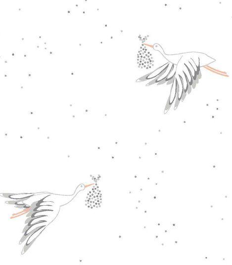 Petit-Pehr Stork print for Stokke. Pattern detail.