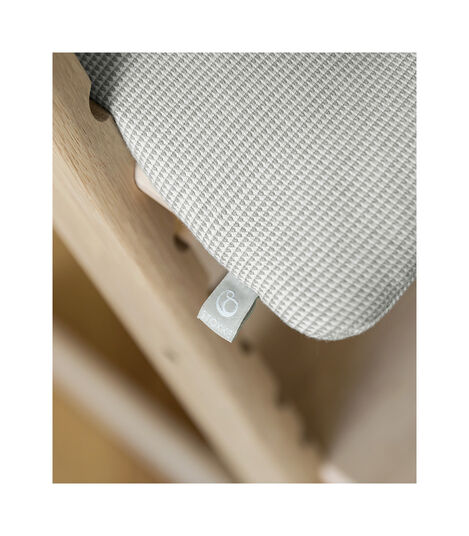 Tripp Trapp® Classic Cushion Nordic Grey on Oak Natural chair view 6