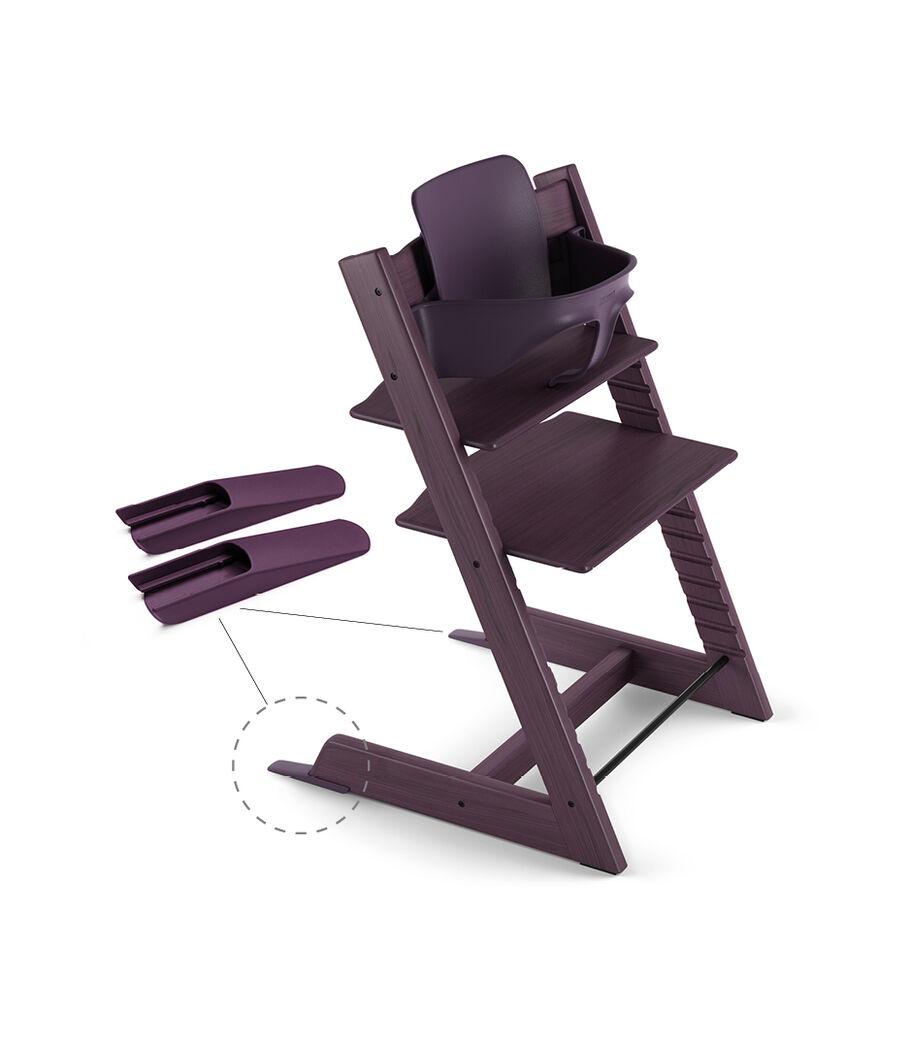 Tripp Trapp® Chair Plum Purple, Beech, with Baby Set.