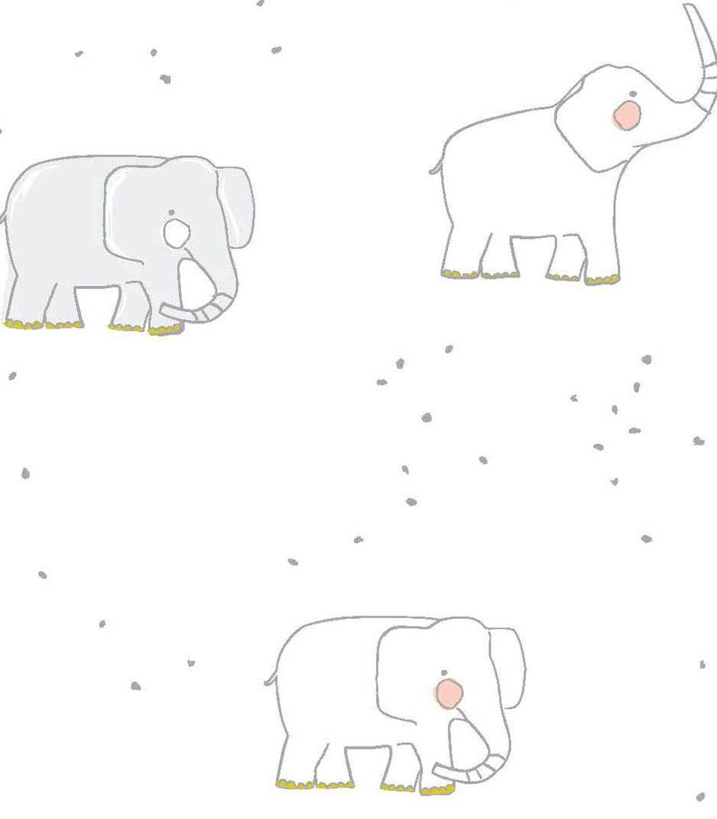 Petit-Pehr Elephant print for Stokke. Pattern detail.