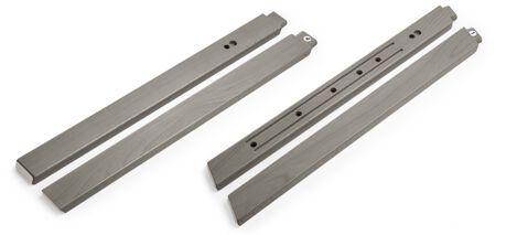 Stokke® Steps™ Wood leg set, Hazy Grey. Complete.