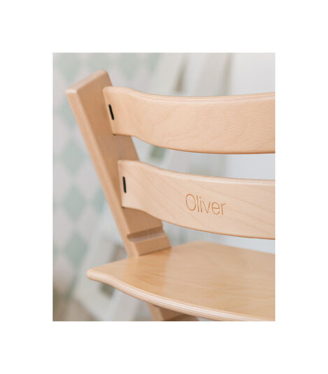 Tripp Trapp® Chair with engraving. Natural. view 4