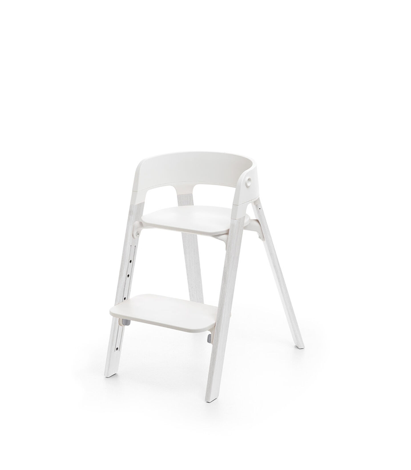 Stokke® Steps™ Chair Oak White Legs with White, White, mainview view 1