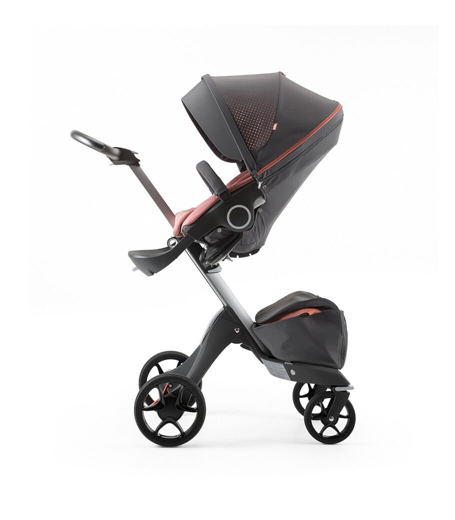 Stokke® Xplory® Silver Chassis and Seat. Athleisure Coral. view 16