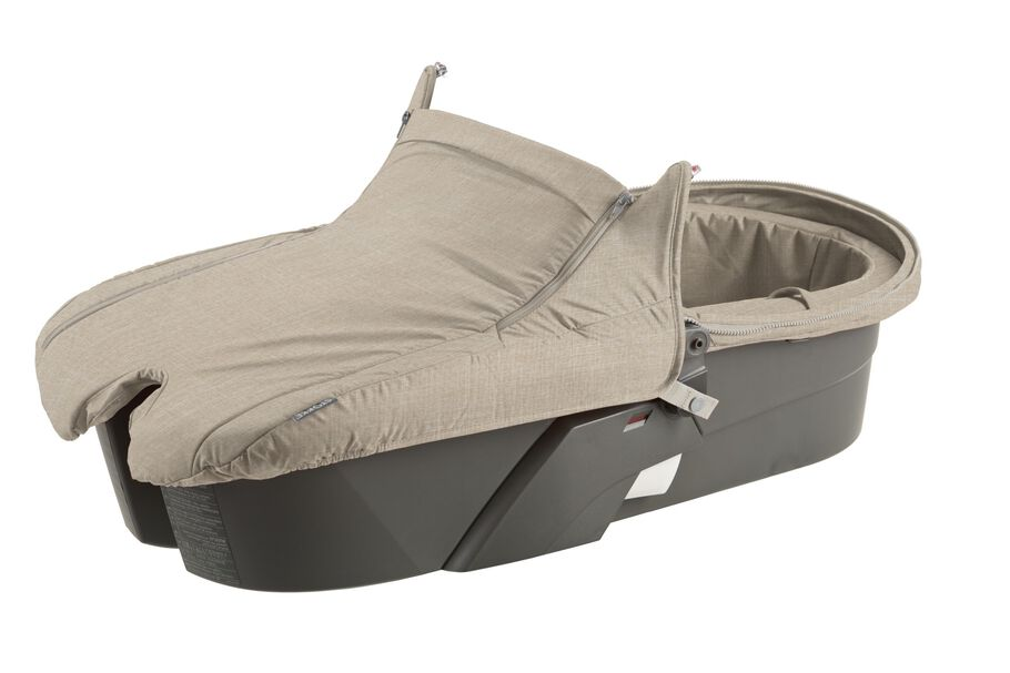 Carry Cot without Hood, Beige Melange.