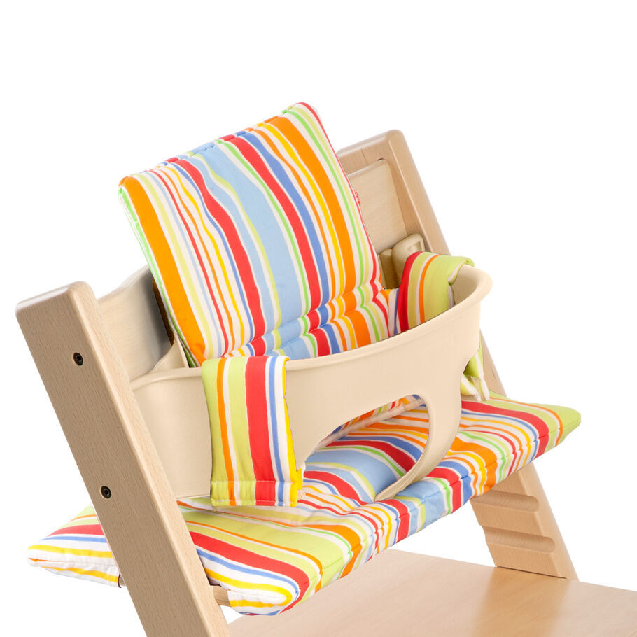 Tripp Trapp® Natural with Baby Set and Art Stripe Cushion