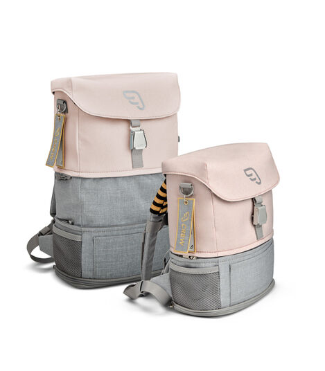 JetKids™ by Stokke® Crew BackPack Pink Lemonade, size comparison