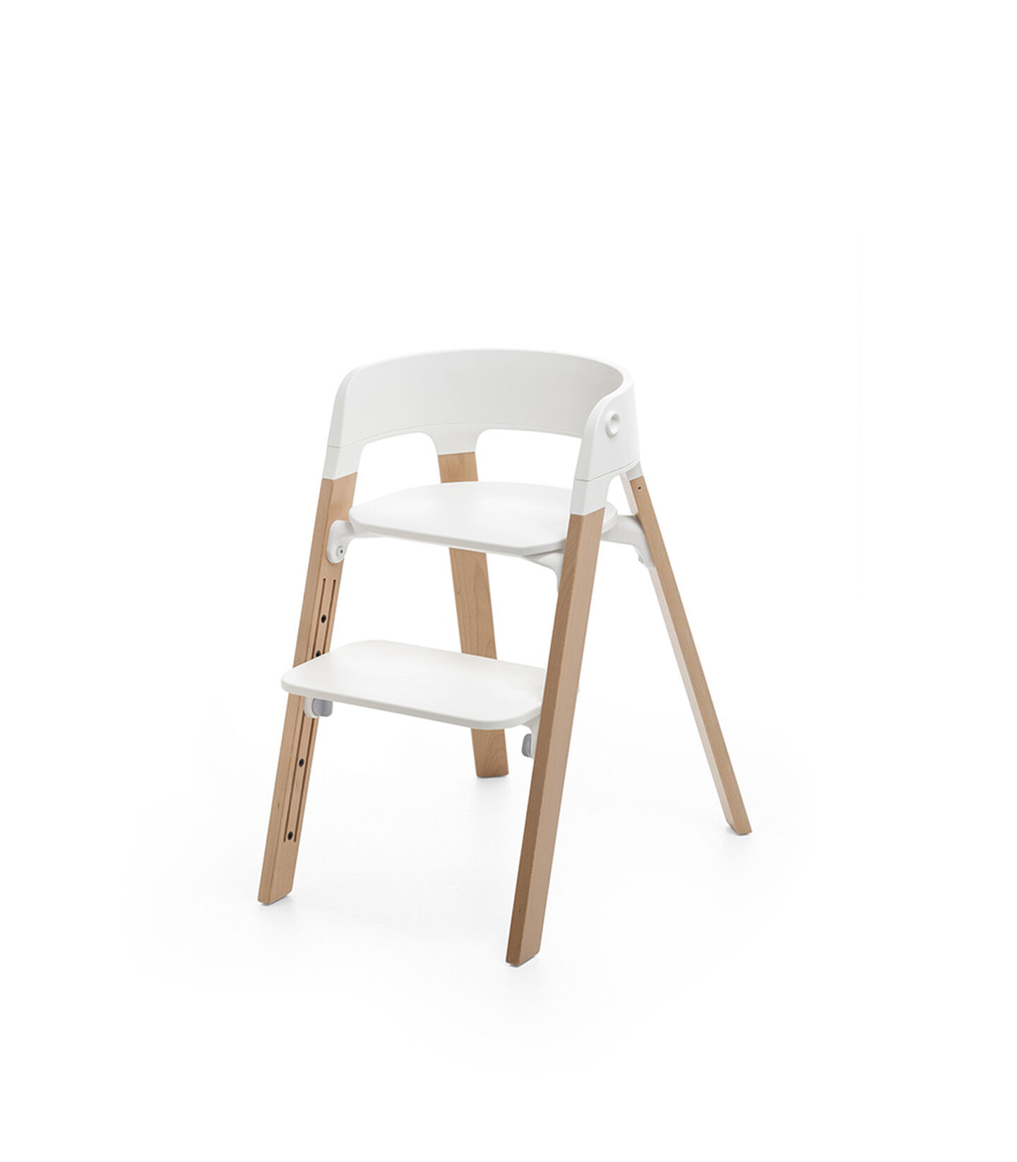 Stokke® Steps™ Chair White Seat Natural Legs, Natural, mainview view 1