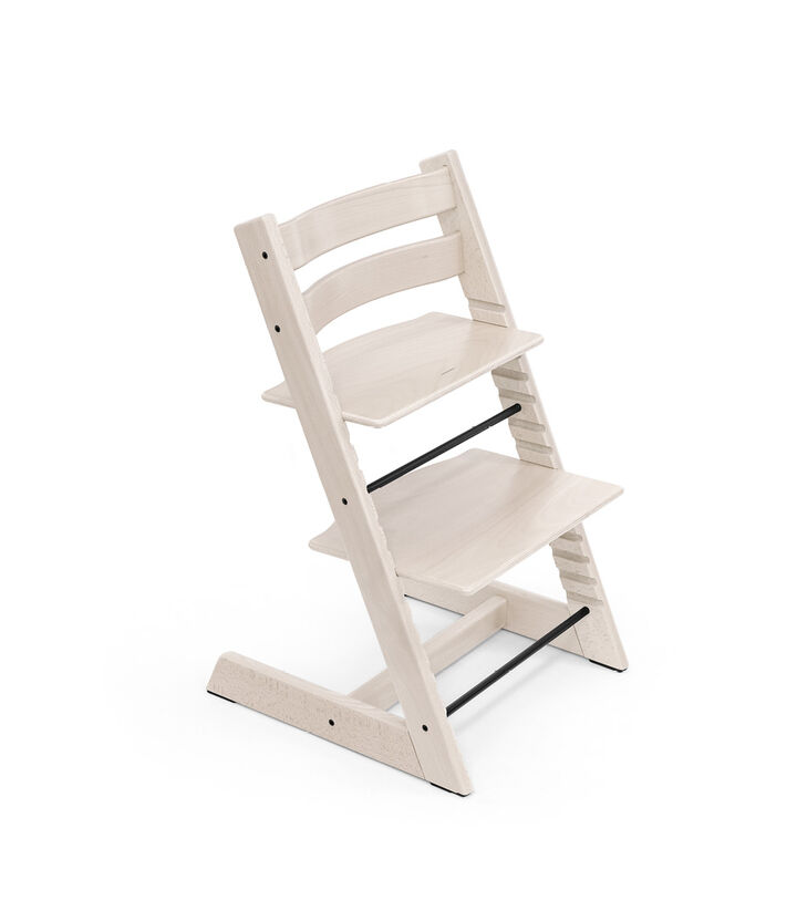 Tripp Trapp® chair Whitewash, Beech Wood. view 1