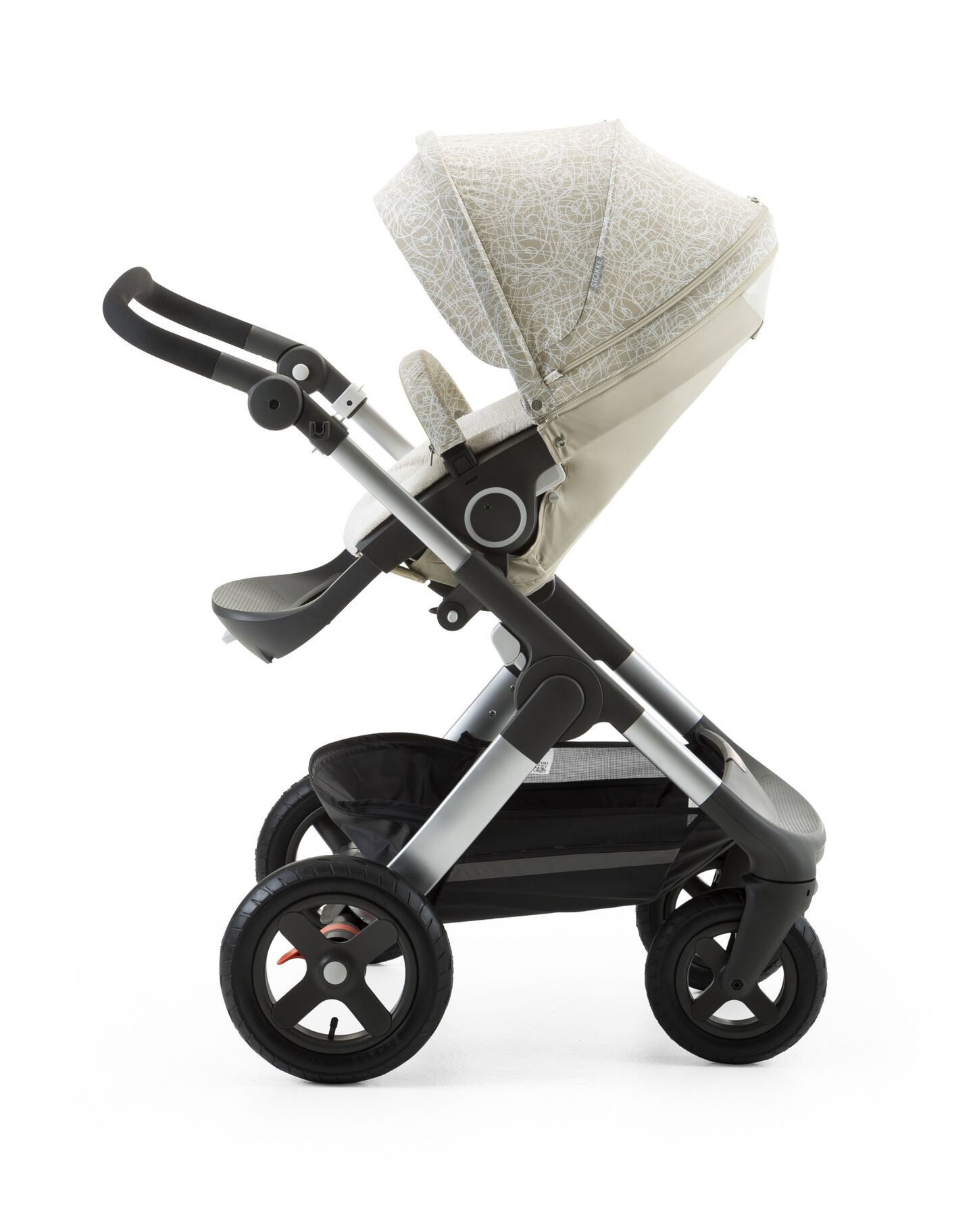 Stokke® Trailz™ with Stokke® Stroller Summer Kit Scribble Sandy Beige.