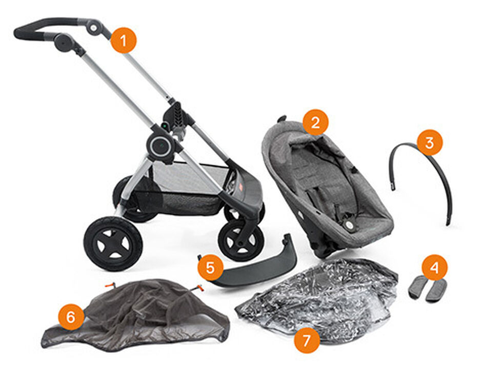 Stokke® Scoot™ Basic Kit, new configuration 2016. Item included.