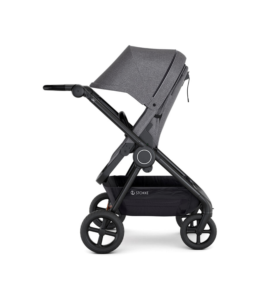 Stokke® Beat™ with Seat. Black Melange. Parent facing. view 2