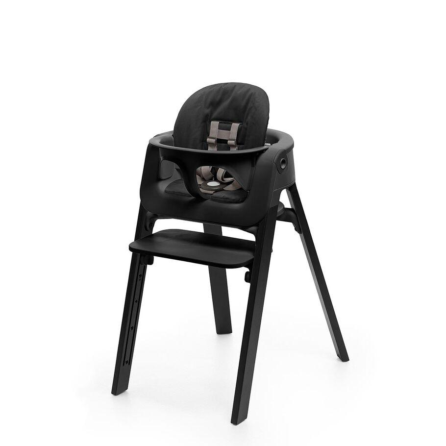 Oak Black Chair, Black Baby Set view 1