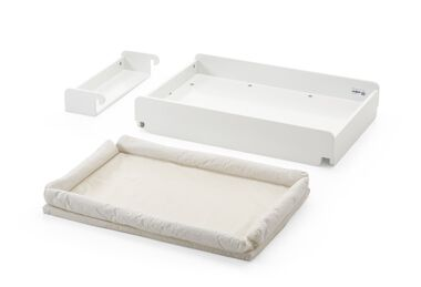 Stokke® Home™ Changer, mattress and storage box.