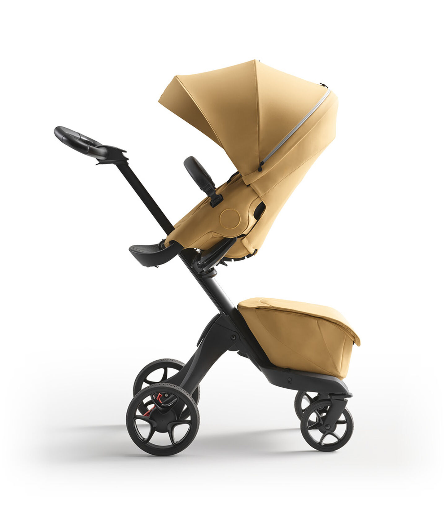 Stokke® Xplory® X Golden Yellow Stroller with Seat Parent Facing view 1