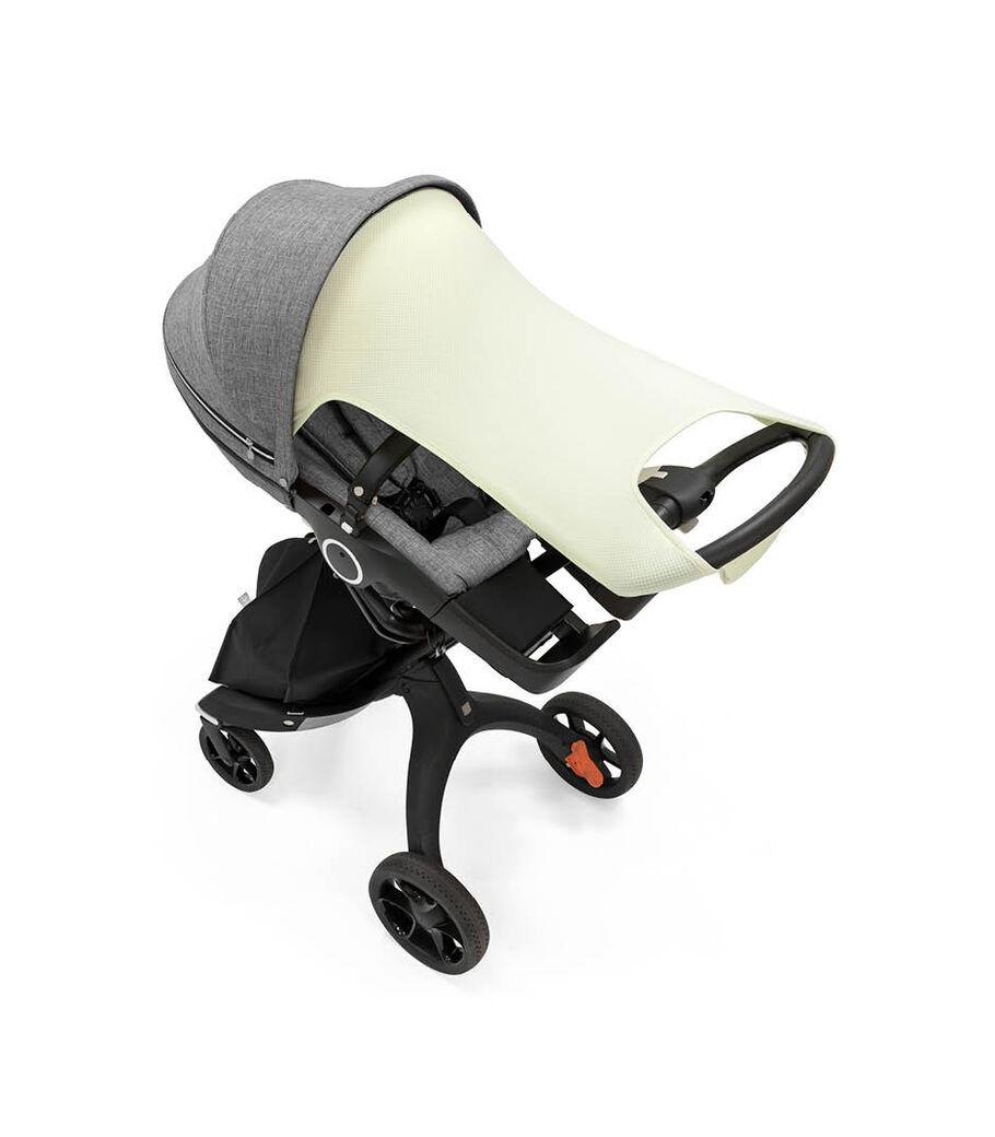 Stokker® Stroller Sun Shade Light Pistachio. Stokke® Xplory® 6 with Stokke® Stroller Seat, Grey Melange.  view 80