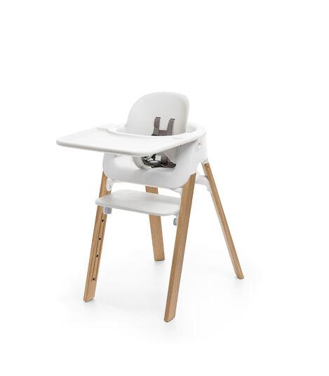 Stokke® Steps™ Doğal Renk Sandalye, Beyaz/Naturel, mainview view 5