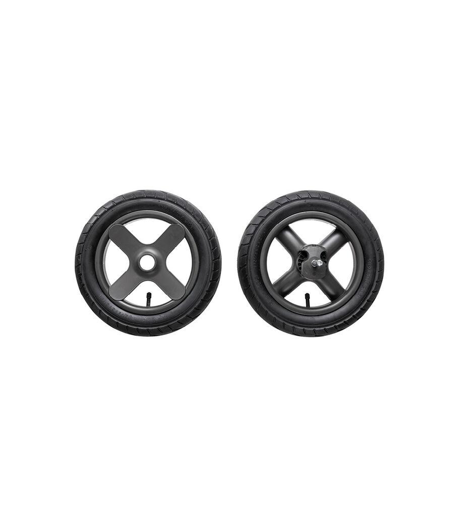 Stokke® Trailz™ Terrain Rear wheel complete set. Grey. Spare part.