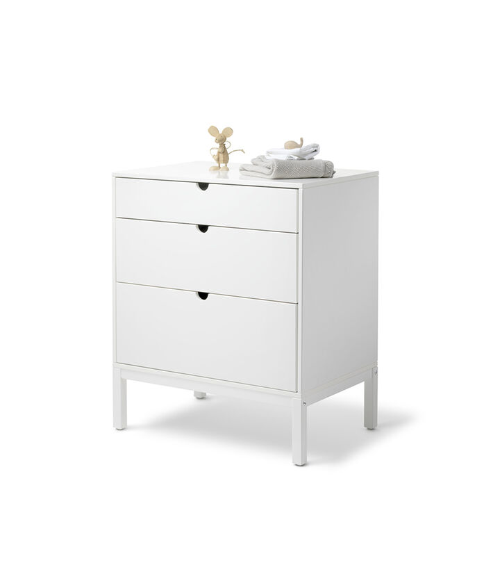 Stokke® Home™ Dresser, White. With Changer. view 1