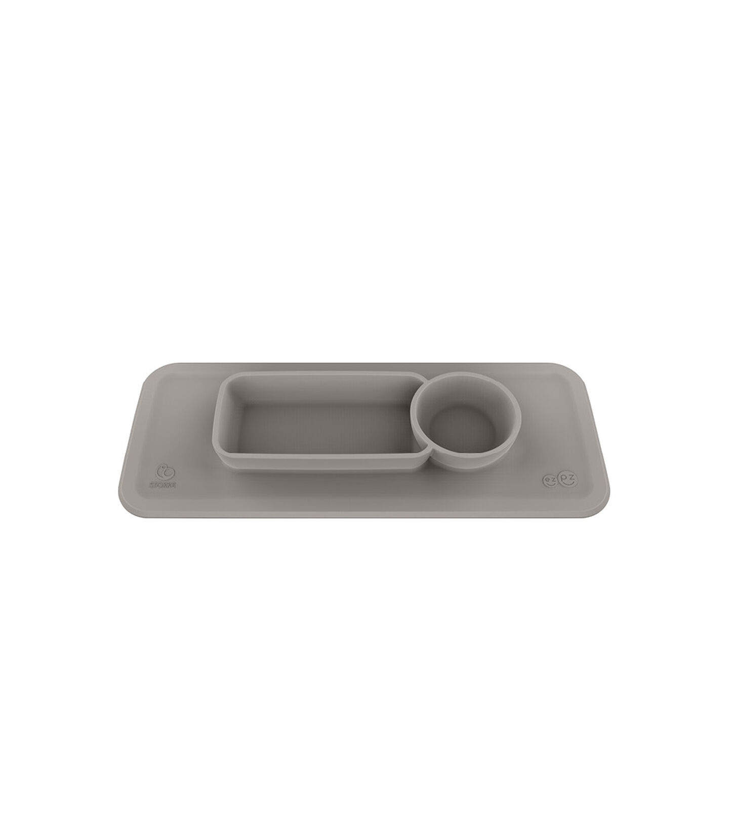 ezpz™ by Stokke™ placemat for Clikk™ Tray Green, Soft Grey, mainview
