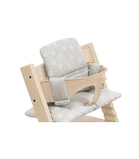 Tripp Trapp® High Chair Natural with Baby Set and Classic Cushion Stars Silver. Detail. view 5
