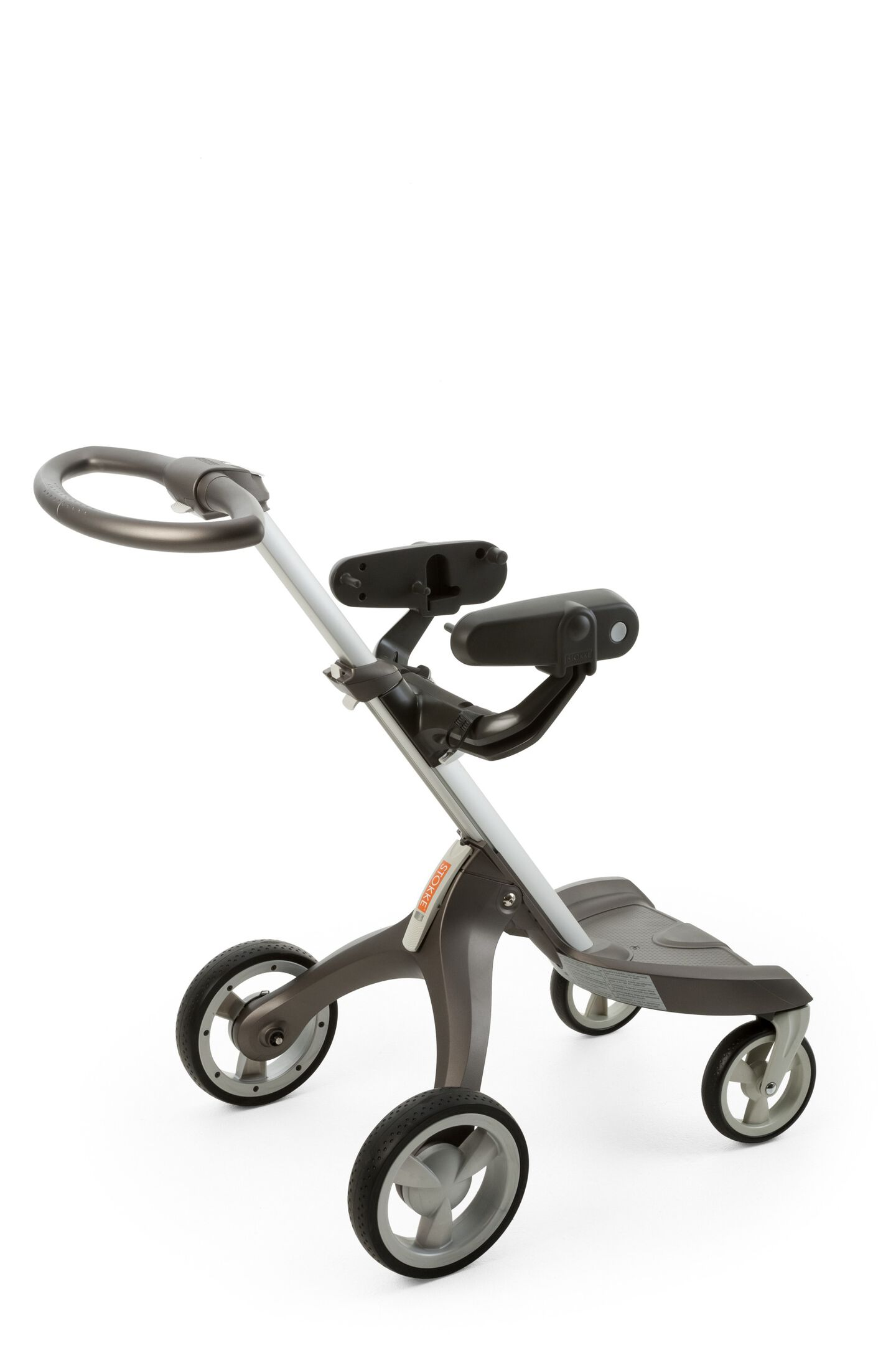 Stokke® Xplory® Chassis with car seat adaptor for Peg Perego car seat.