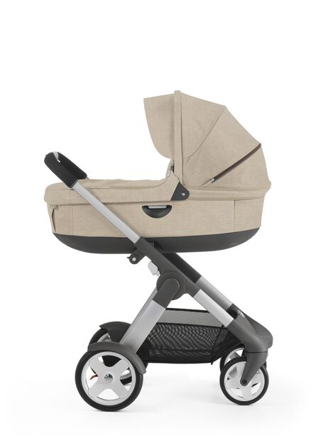 With Stokke® Stroller Carry Cot, Beige Melange.