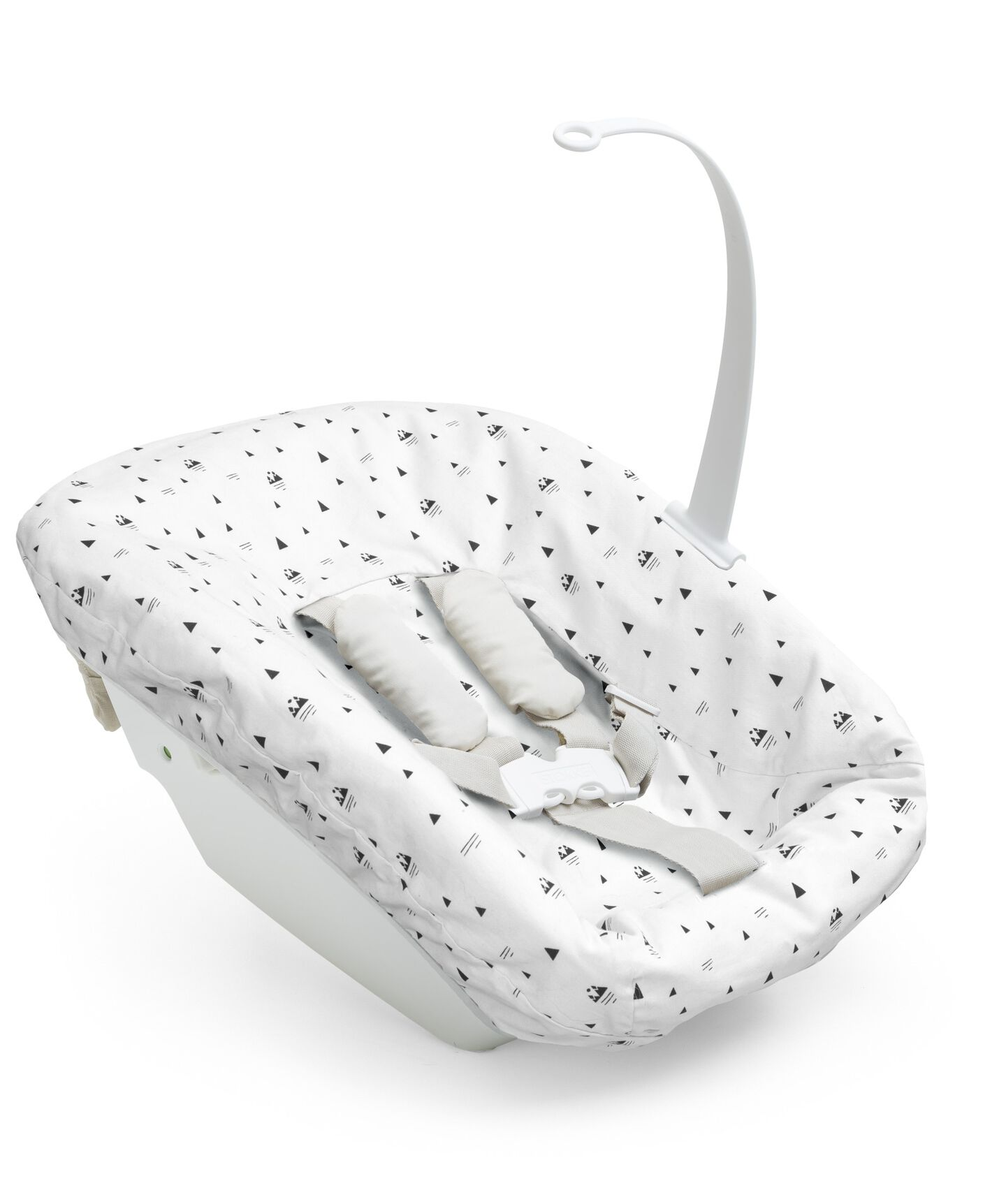 Tripp Trapp® Newborn Set with White Mountain Cover.